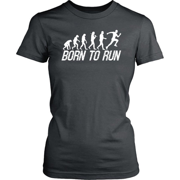 Born To Run Best Gift Idea For Runners Awesome Unique Funny Running Women TShirt-NeatFind.net