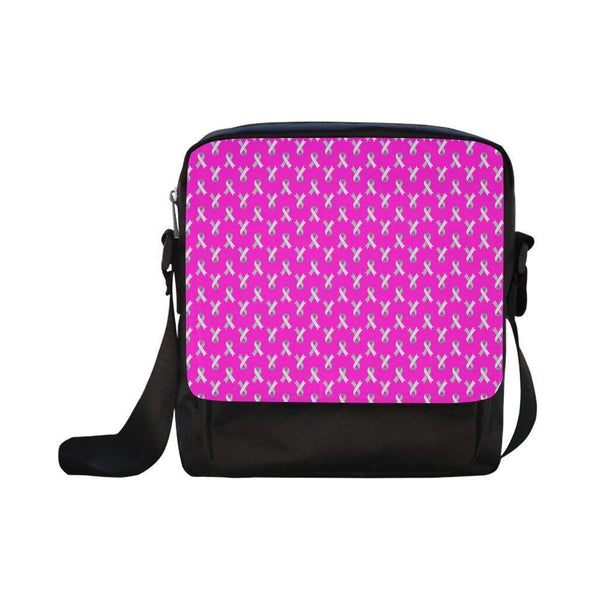 Breast Cancer Pink Ribbon #1-#5 CrossBody Water Resistant Nylon Bags For Women (5 styles)-NeatFind.net