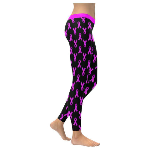 Breast Cancer Pink Ribbon #1 Low Rise Leggings For Women-NeatFind.net