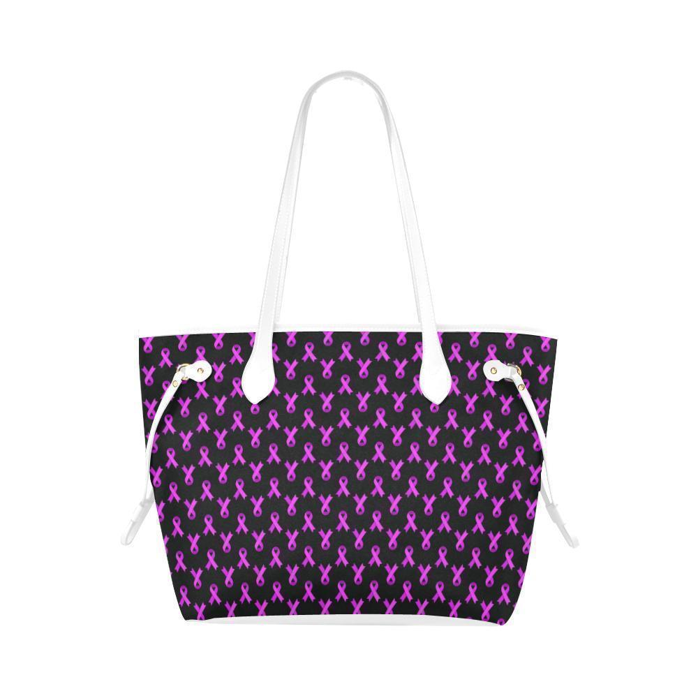 Breast Cancer Pink Ribbon #1 Water Resistant Canvas Tote Bags (4 colors)-NeatFind.net