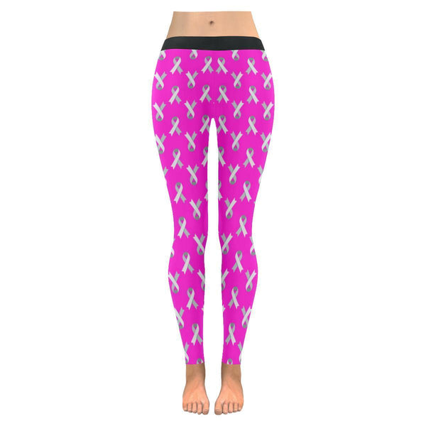 Breast Cancer Pink Ribbon #2 Low Rise Leggings For Women-NeatFind.net
