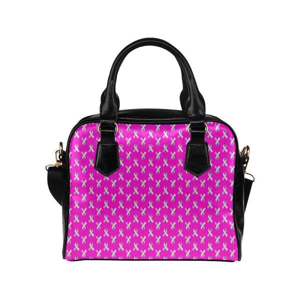 Breast Cancer Pink Ribbon #2 Shoulder Handbag For Women-NeatFind.net