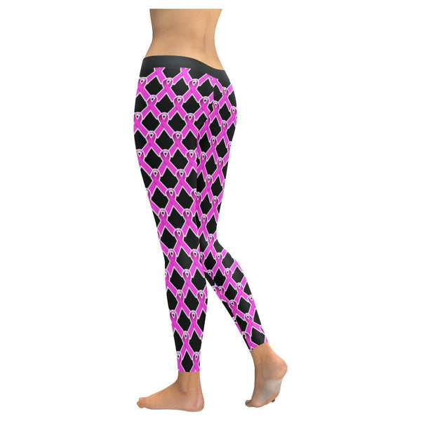 Breast Cancer Pink Ribbon #3 Low Rise Leggings For Women-NeatFind.net