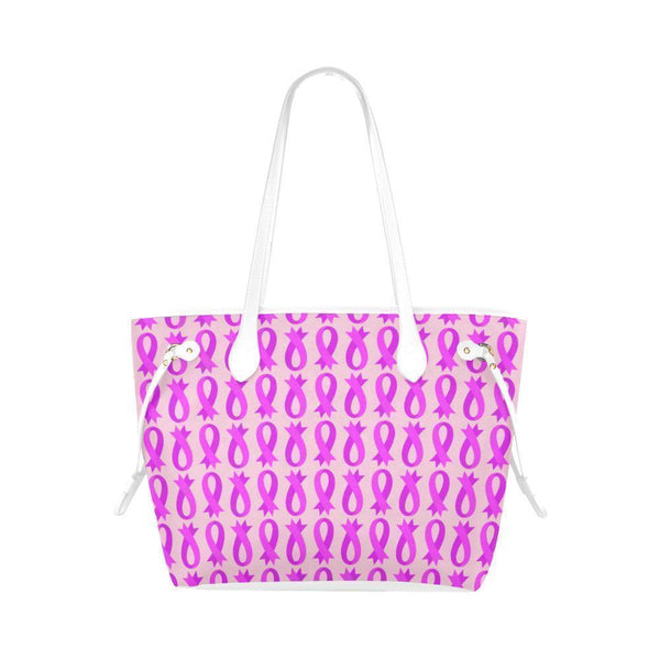 Breast Cancer Pink Ribbon #3 Water Resistant Canvas Tote Bags (4 colors)-NeatFind.net