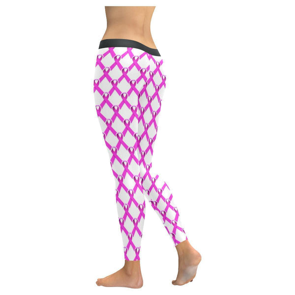 Breast Cancer Pink Ribbon #4 Low Rise Leggings For Women-NeatFind.net