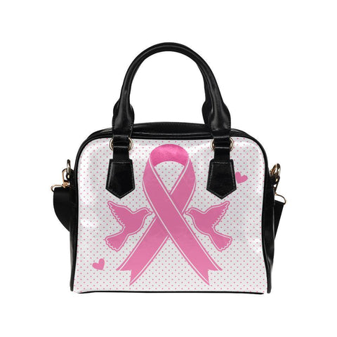 Breast Cancer Pink Ribbon #4 Shoulder Handbag For Women-NeatFind.net