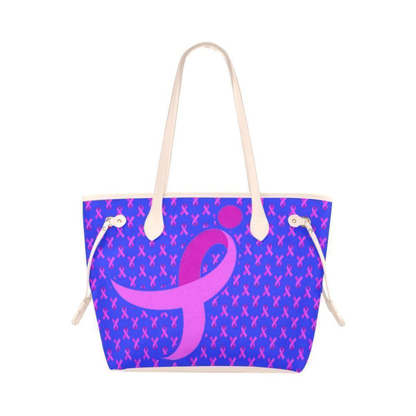 Breast Cancer Pink Ribbon #4 Water Resistant Canvas Tote Bags (4 colors)-NeatFind.net