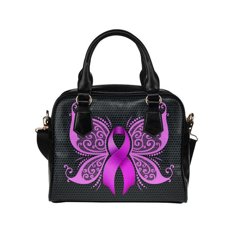 Breast Cancer Pink Ribbon #5 Shoulder Handbag For Women-NeatFind.net