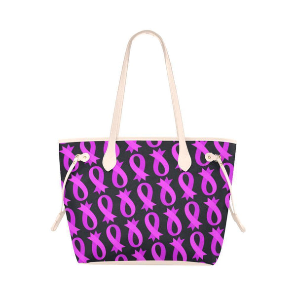Breast Cancer Pink Ribbon #5 Water Resistant Canvas Tote Bags (4 colors)-NeatFind.net