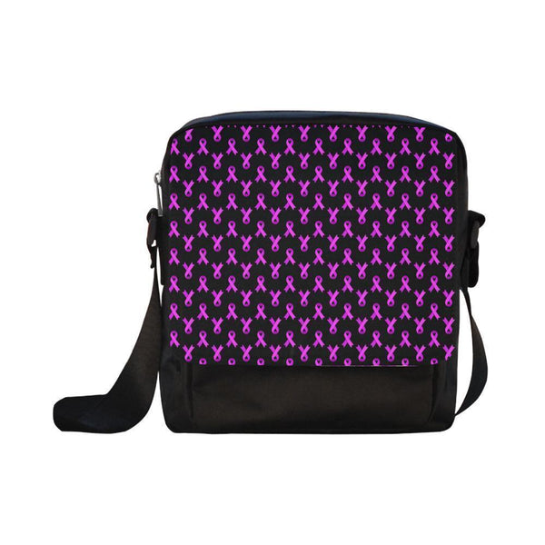 Breast Cancer Pink Ribbon #6-#10 CrossBody Water Resistant Nylon Bags For Women (5 styles)-NeatFind.net