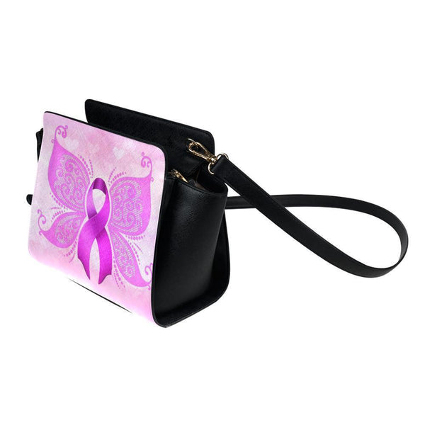 Breast Cancer Pink Ribbon #6 Satchel Bag For Women-NeatFind.net