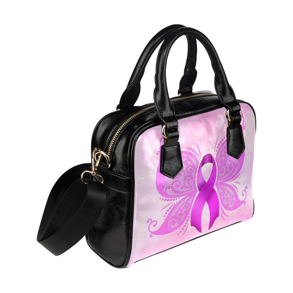 Breast Cancer Pink Ribbon #6 Shoulder Handbag For Women-NeatFind.net