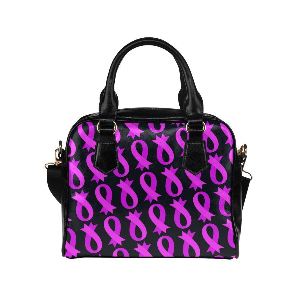 Breast Cancer Pink Ribbon #7 Shoulder Handbag For Women-NeatFind.net