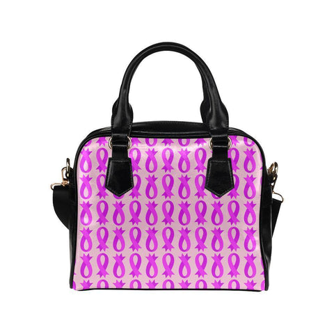 Breast Cancer Pink Ribbon #8 Shoulder Handbag For Women-NeatFind.net