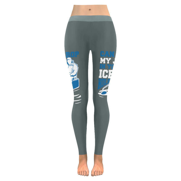 Can I Drop My Jig In Your Ice Hole Low Rise Leggings For Women (3 colors)-NeatFind.net