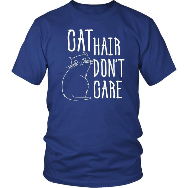Cat Hair Dont Care Awesome Cute Funny Lovers Kitty Obsessed Gift Ideas TShirt-NeatFind.net