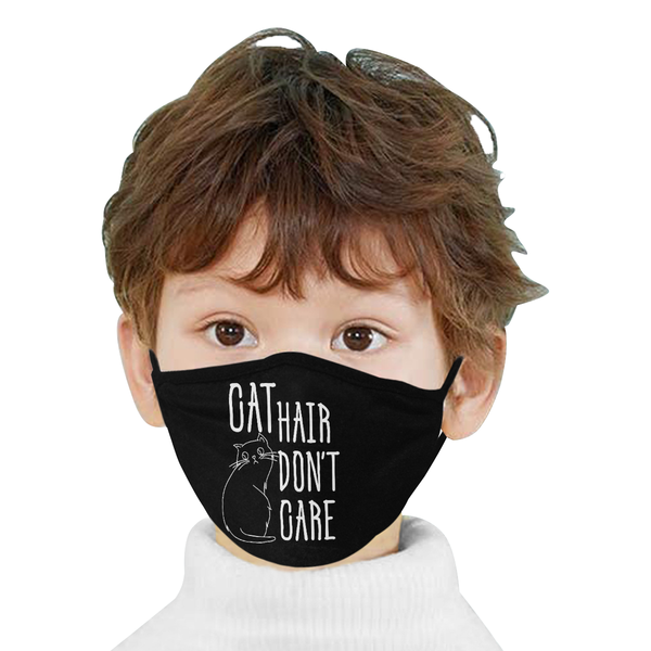 Cat Hair Dont Care Funny Washable Reusable Cloth Face Mask With Filter Pocket-Face Mask-NeatFind.net