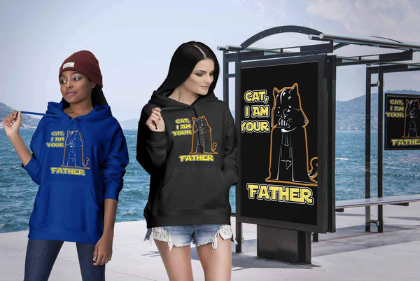 Cat I Am Your Father Cute Funny Kitten Lovers Kitty Obsessed Gift Ideas Hoodie-NeatFind.net