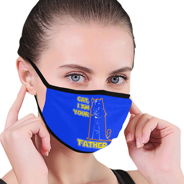 Cat I Am Your Father Washable Reusable Cloth Face Mask With Filter Pocket-Face Mask-NeatFind.net