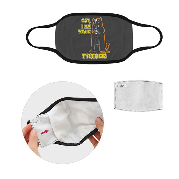 Cat I Am Your Father Washable Reusable Cloth Face Mask With Filter Pocket-Face Mask-S-Grey-NeatFind.net