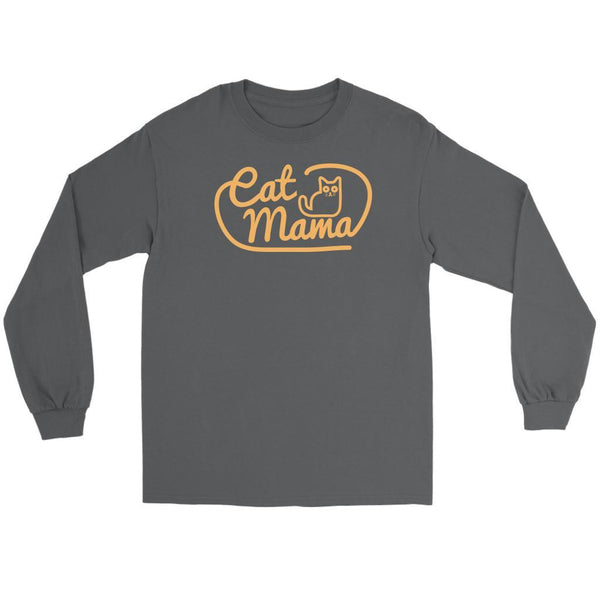 Cat Mama Awesome Cute Funny Kitten Lovers Kitty Obsessed Long Sleeve TShirt-NeatFind.net