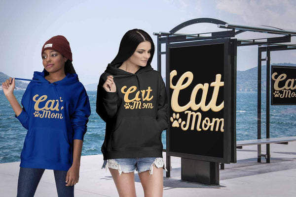 Cat Mom Awesome Cute Funny Cat Lovers Kitty Obsessed Friend Gift Ideas Hoodie-NeatFind.net