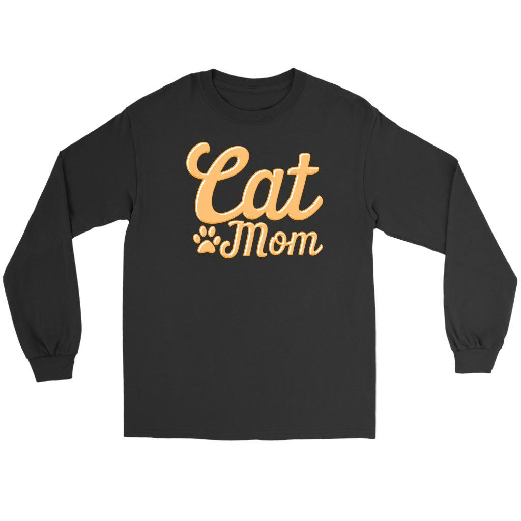 Cat Mom Awesome Cute Funny Cat Lovers Kitty Obsessed Friend Long Sleeve TShirt-NeatFind.net