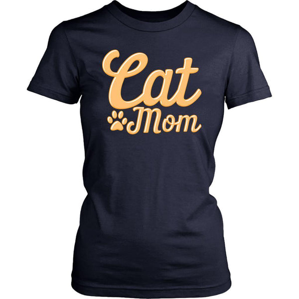Cat Mom Awesome Cute Funny Cat Lovers Kitty Obsessed Friend Women's T-Shirt-NeatFind.net