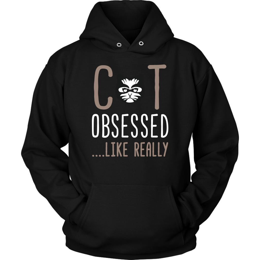 Cat Obsessed Like Really Awesome Cute Funny Kitten Lover Kitty Gift Idea Hoodie-NeatFind.net