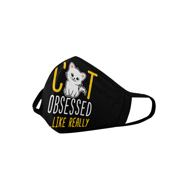 Cat Obsessed Like Really Washable Reusable Cloth Face Mask With Filter Pocket-Face Mask-NeatFind.net
