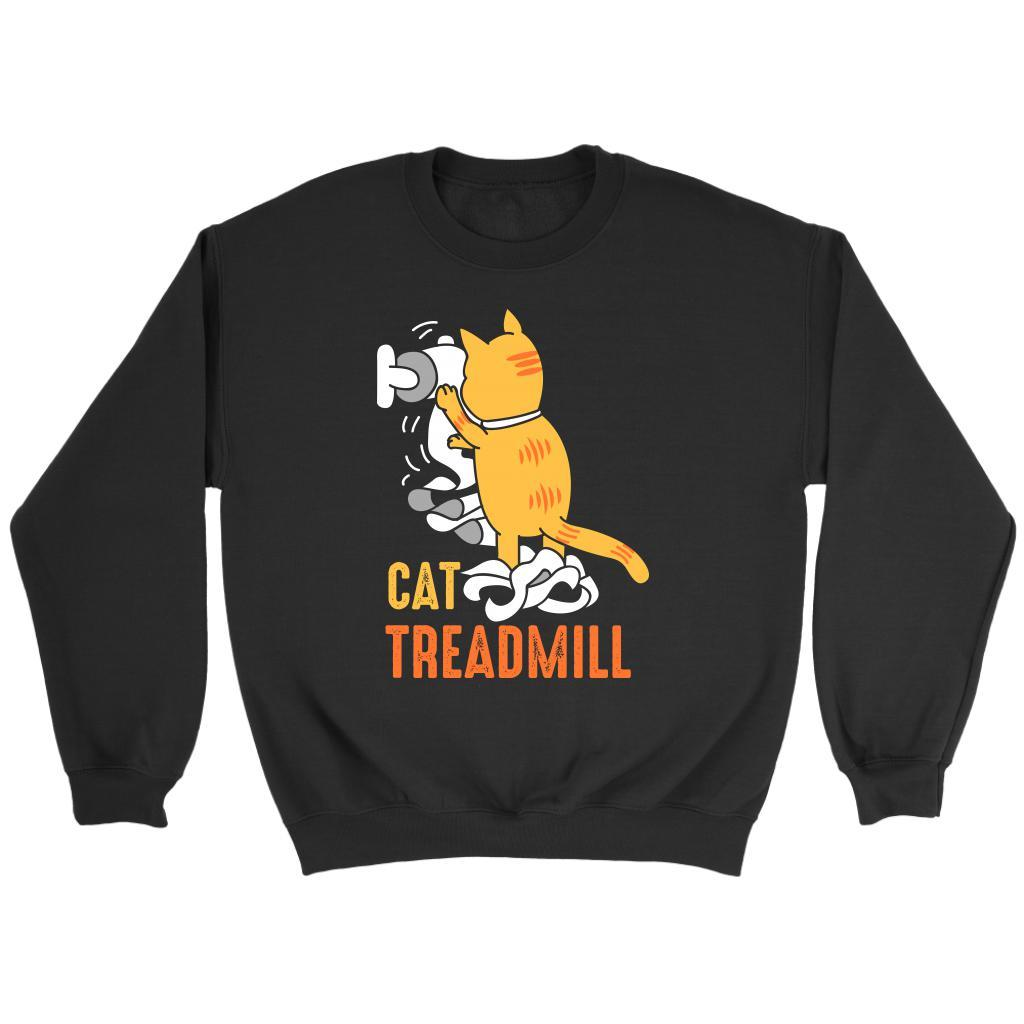 Cat Treadmill Cute Funny Kitten Lovers Kitty Obsessed Friend Gift Ideas Sweater-NeatFind.net