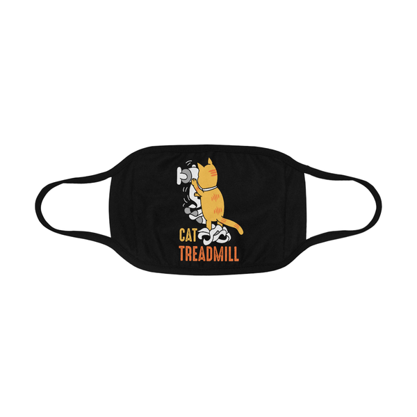 Cat Treadmill Funny Washable Reusable Cloth Face Mask With Filter Pocket-Face Mask-NeatFind.net