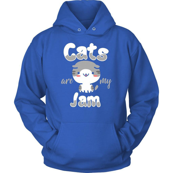 Cats Are My Jam Cute Funny Kitten Lovers Kitty Obsessed Friend Gift Idea Hoodie-NeatFind.net