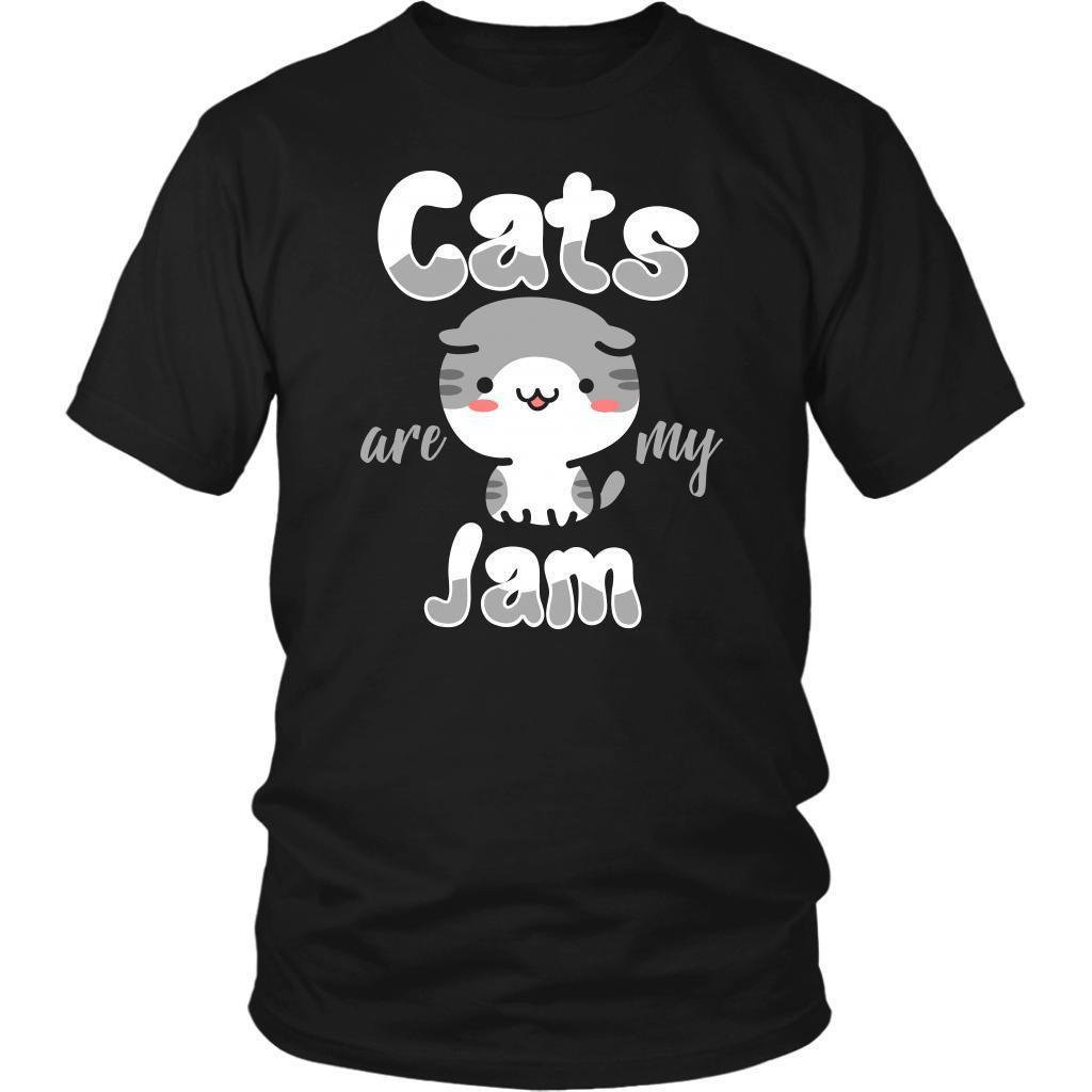 Cats Are My Jam Cute Funny Kitten Lovers Kitty Obsessed Friend Gift Idea TShirt-NeatFind.net