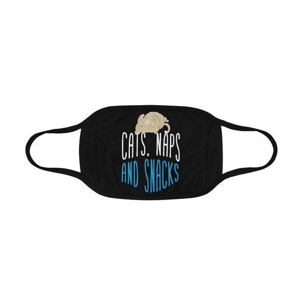 Cats Naps & Snacks Funny Washable Reusable Cloth Face Mask With Filter Pocket-Face Mask-NeatFind.net