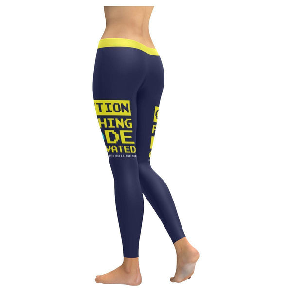 Caution Fishing Mode Activated Don't Bother Me With Your BS Fishing V2 Low Rise Leggings For Women (3 colors)-NeatFind.net