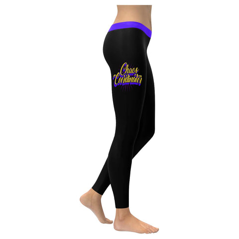 Chaos Coordinator Funny Teacher Appreciation Week Day Gift Ideas Womens Leggings-NeatFind.net