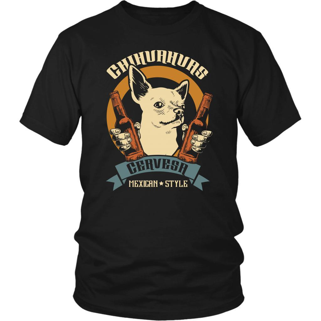 Chihuahuas Cervesa Mexican Style Cute Funny Dog Lovers Puppy Gift Ideas TShirt-NeatFind.net