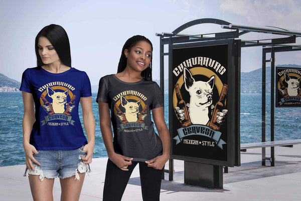 Chihuahuas Cervesa Mexican Style Funny Dog Lovers Puppy Gift Ideas Women TShirt-NeatFind.net