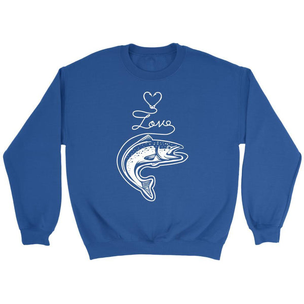 Classic Fish Hook Heart Shape Love Fishing Awesome Cool Unique Gift Sweater-NeatFind.net
