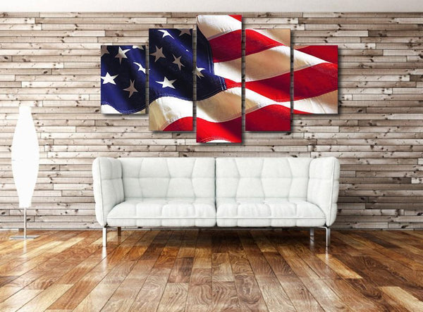 Classic USA Flag 5-Piece Wall Art-NeatFind.net