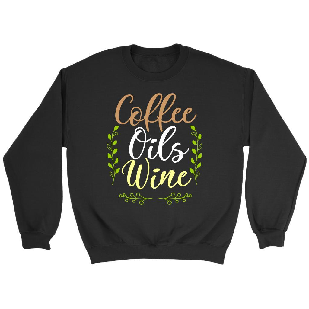 Coffee Oils Wine Unique Gifts For Friends Who Love Essential Oils Funny Sweater-NeatFind.net