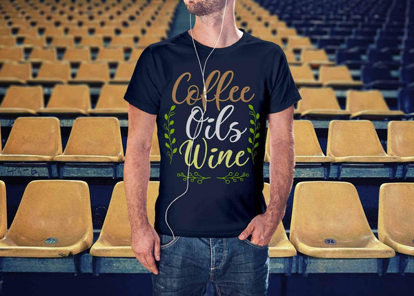 Coffee Oils Wine Unique Gifts For Friends Who Love Essential Oils Funny TShirt-NeatFind.net