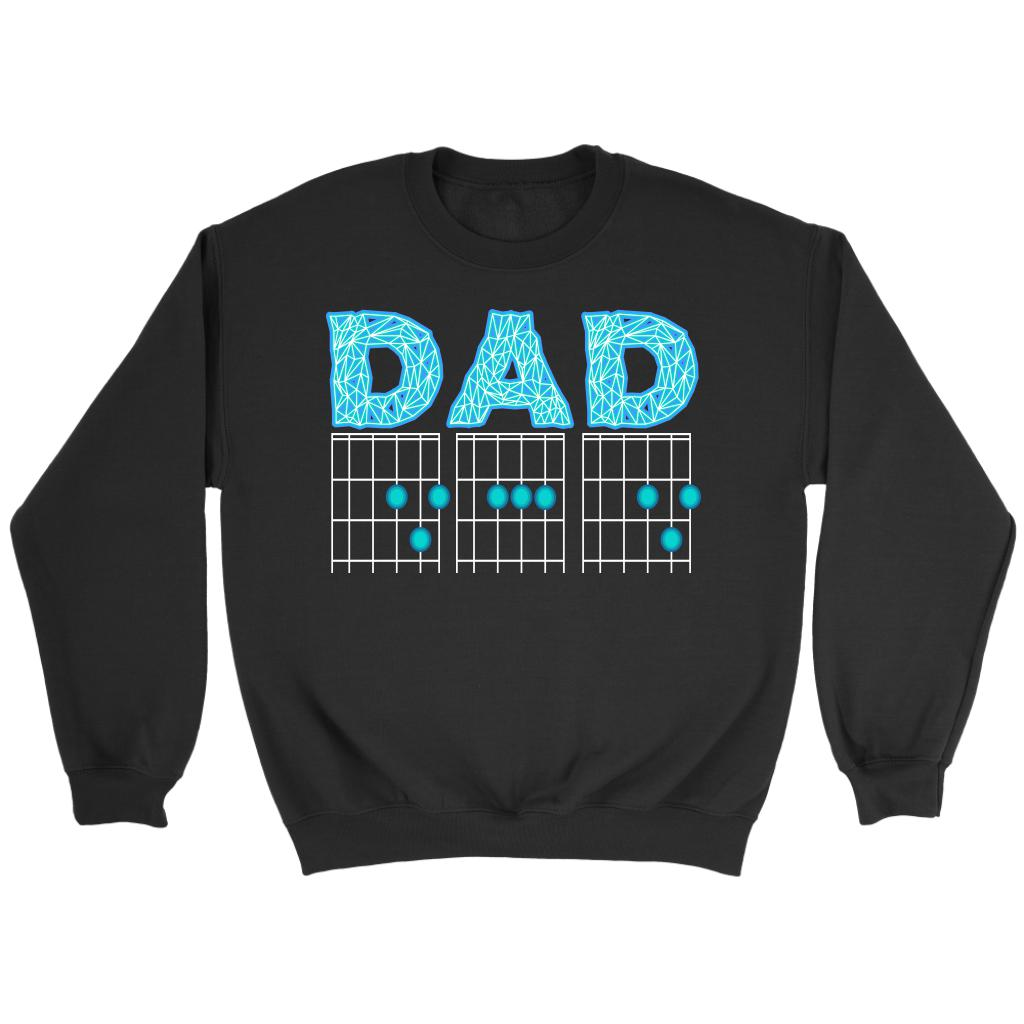 DAD Guitar Chord Cool Funny Awesome Guitarist Unisex Crewneck Sweatshirt-NeatFind.net