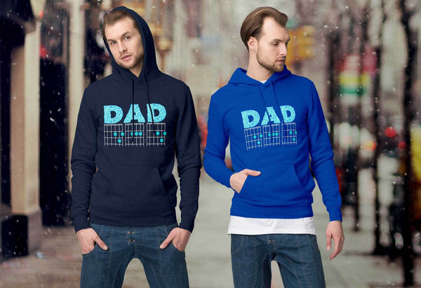 DAD Guitar Chord Cool Funny Awesome Guitarist Unisex Hoodie-NeatFind.net