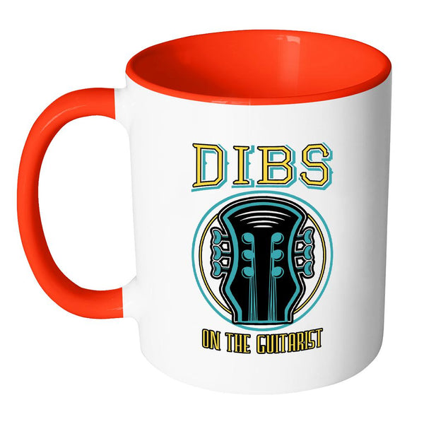Dibs On The Guitarist Cool Funny Bass Guitar 11oz Coffee Mug 7 Colors-NeatFind.net