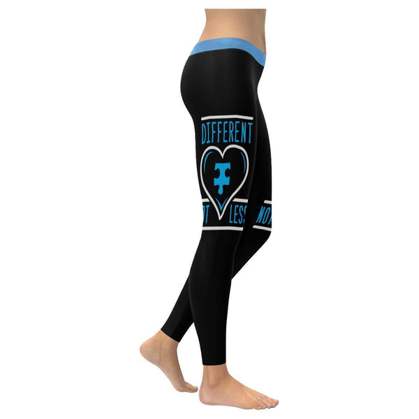 Different Not Less Autism Awareness Gift Special Needs Teacher Womens Leggings-NeatFind.net