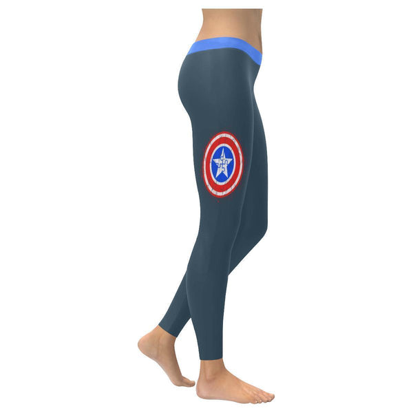 Different Not Less Captain America Shield Autism Awareness Gift Womens Leggings-NeatFind.net
