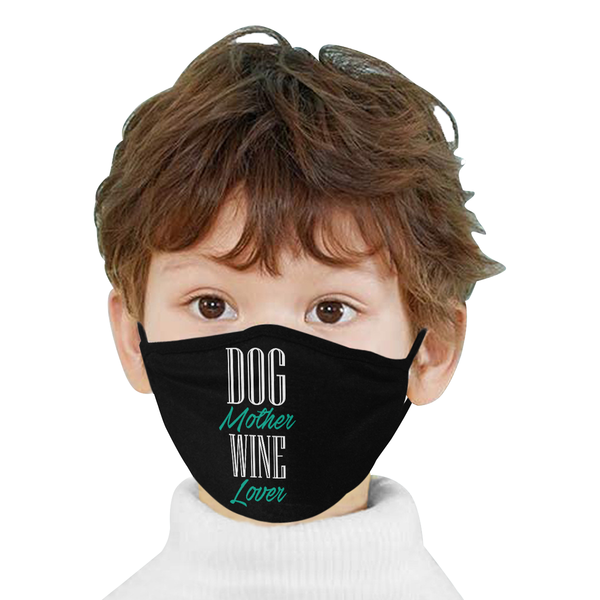 Dog Mother Wine Lover Washable Reusable Cloth Face Mask With Filter Pocket-Face Mask-NeatFind.net