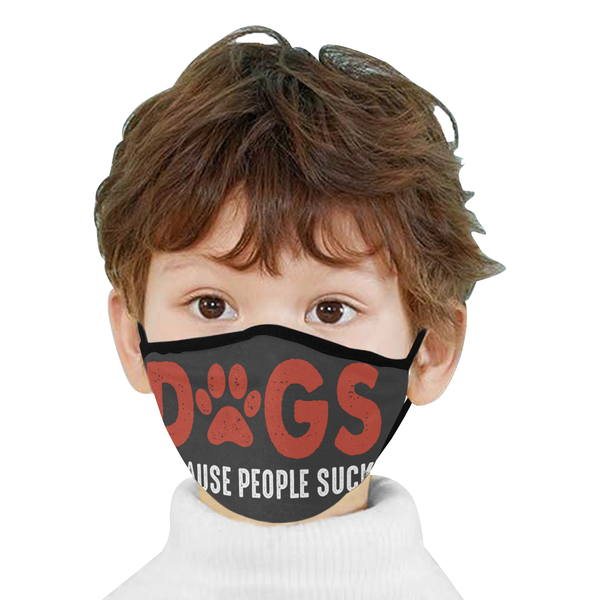 Dogs Because People Suck Washable Reusable Cloth Face Mask With Filter Pocket-Face Mask-NeatFind.net